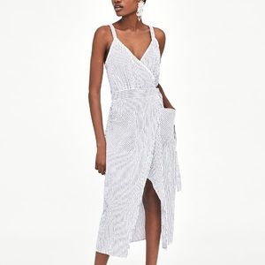 Zara crossed midi dress
